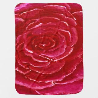 Pink Rose Baby Blanket