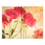 Pink Rose Background Collage Roses Flowers Photo Print