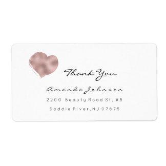 Pink Rose Blush Heart Brush Stroke Thank You