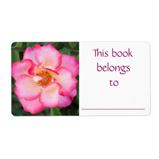 Pink Rose book label