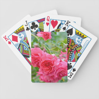 Pink  Rose Bouquet Bicycle Playing Cards