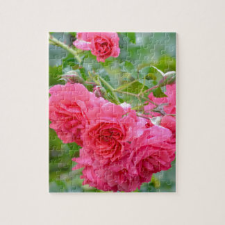 Pink  Rose Bouquet Jigsaw Puzzle