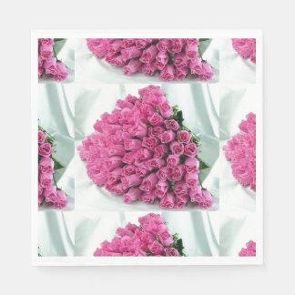 Pink Rose Bouquet Napkins Paper Napkin