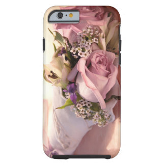 pink rose bouquet with ribbon iPhone 6 case