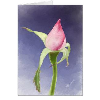 Pink Rose Bud Card