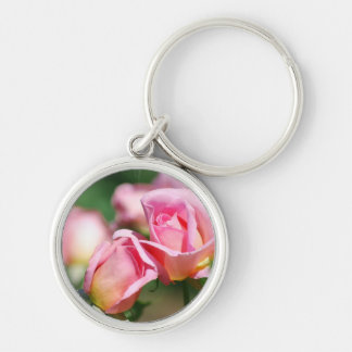 Pink Rose Bud  Keychain