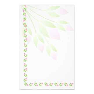 Pink Rose Buds Stationery-Floral Stationery