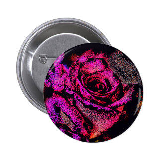 Pink Rose by Camille K 2 Inch Round Button