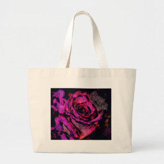 Pink Rose by Camille K Large Tote Bag