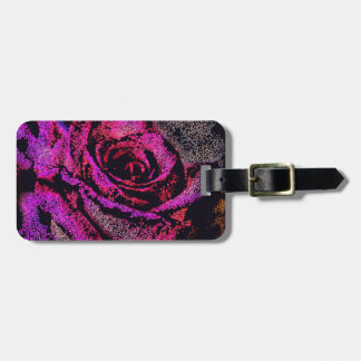 Pink Rose by Camille K Luggage Tag