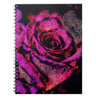 Pink Rose by Camille K Notebook