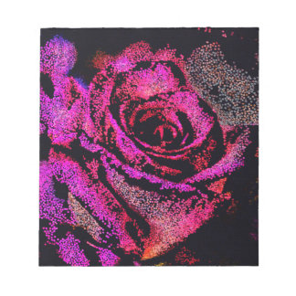 Pink Rose by Camille K Notepad