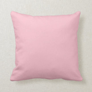 Pink Rose Carnation Solid Trend Color Background Throw Pillow