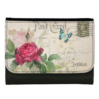 Pink Rose Customizable Wallets