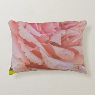 Pink rose decorative pillow