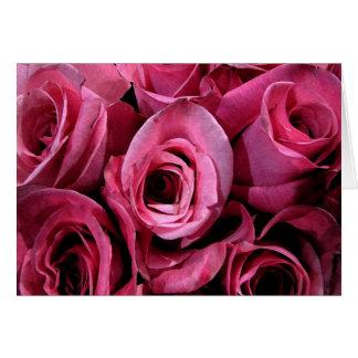 Pink rose design card