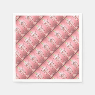 Pink Rose Dress Paper Napkins