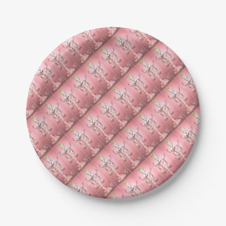 Pink Rose Dress Paper Plate