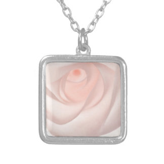 Pink Rose Eye Silver Plated Necklace