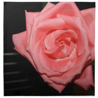 pink rose five string bass strings dark back music printed napkins