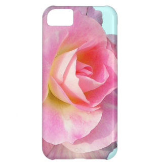 PINK ROSE FLORAL IPHONE 5 C COVER FOR iPhone 5C