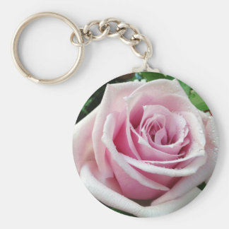 Pink Rose Floral Key Chain