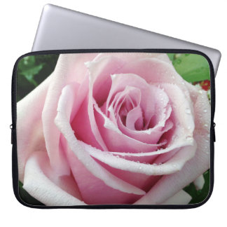 Pink Rose Floral Neoprene Laptop Sleeve