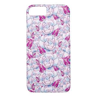 Pink Rose Floral Pattern iPhone 7 Case