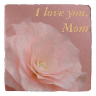 Pink Rose Floral Stone Trivet