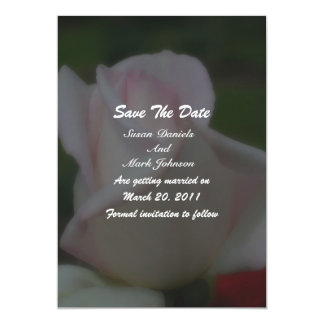 Pink Rose Floral Wedding Save The Date 5x7 Paper Invitation Card