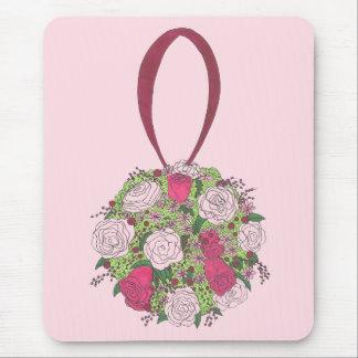 Pink Rose Flower Bridal Bouquet Wedding Shower Mouse Pad