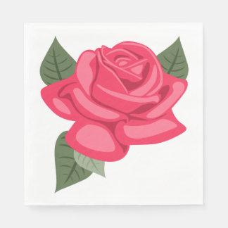 Pink Rose Flower Floral Wedding / Party Napkin