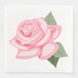 Pink Rose Flower Floral Wedding / Party Paper Dinner Napkin