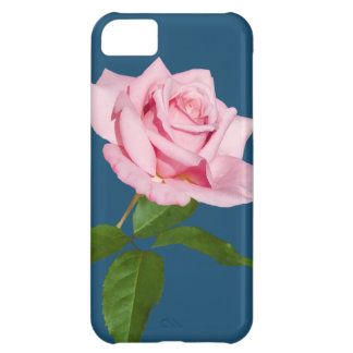 Pink Rose Flower with Dew Drops Customizable Case For iPhone 5C