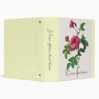 Pink  Rose flowers, Pierre Joseph Redouté Vinyl Binders