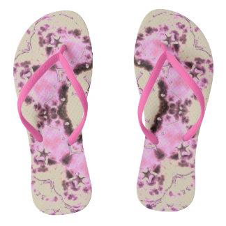Pink Rose Garden Adult Slim Straps flip-flops Flip Flops