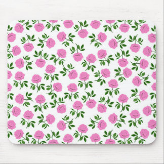 Pink Rose Garden Mousepad