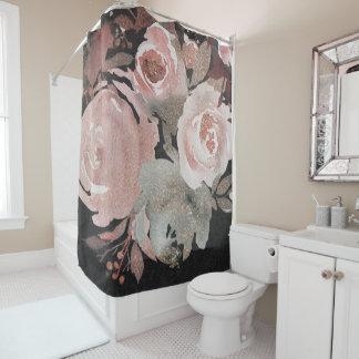 Pink Rose Glitter Roses Dark Floral Glam Elegant