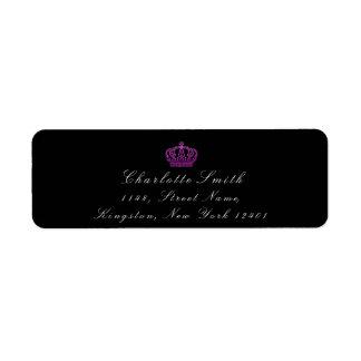 Pink Rose Glitter RSVP Crown Princess Bridal Black
