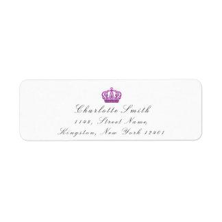 Pink Rose Glitter RSVP Crown Princess Bridal White