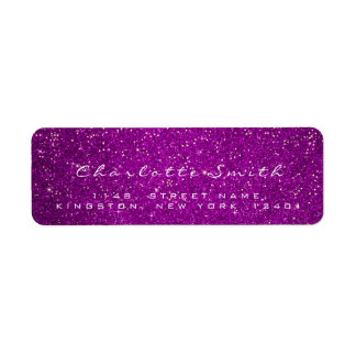 Pink Rose  Glitter RSVP Gold Confetti White Name