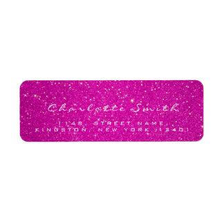 Pink Rose Glitter RSVP Hot Rose Gold Confetti Name