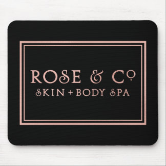 Pink Rose Gold Black Minimal Decor Mouse Pad