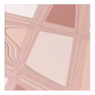 Pink Rose Gold Blush Abstract Urban Lines Acrylic Print
