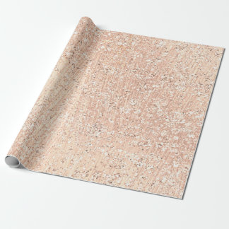 Pink Rose Gold Blush Crystal Metallic Glass Powder Wrapping Paper