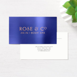 Pink Rose Gold Blush Emerald Blue Appointment Logo Business Card