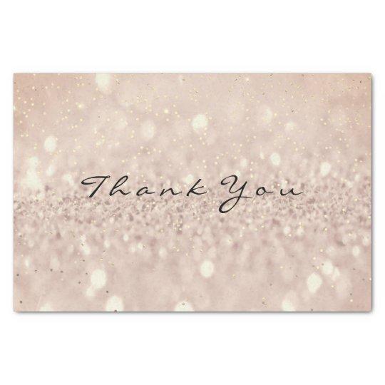 Pink Rose Gold Blush Glitter Thank You Blush Tissue Paper