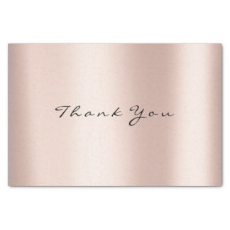 Pink Rose Gold Blush Glitter Thank You Event Tissue Paper