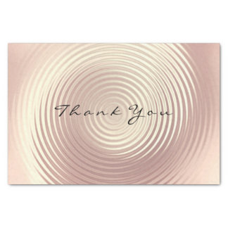 Pink Rose Gold Blush Glitter Thank You Luxury Tissue Paper