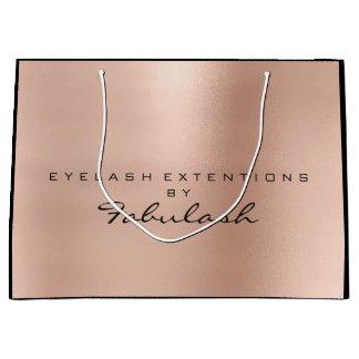 Pink Rose Gold Blush Pearly Minimal Branding Large Gift Bag